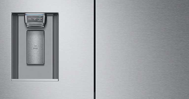 Water Ice Dispense In Refrigerator Image