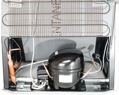 image shows refrigerator working principle using thermodynamics